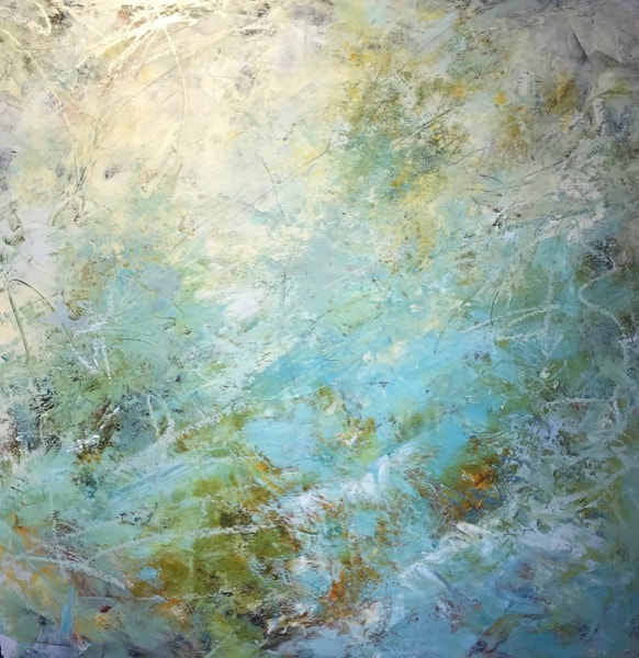 "Rare Light, Cindy Walton, 36""x36"", oil and cold wax on panel"