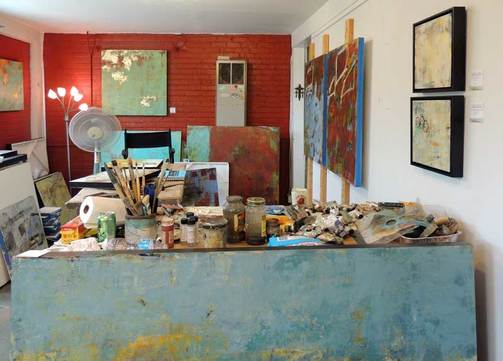 Cindy Walton's Studio in Asheville's River Arts District